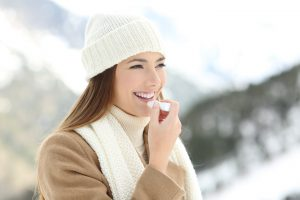 Tips for taking care of your skin during the winter -  moisturize your lips